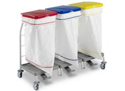 TTS-dust-4165-wozek-higieniczny-zamykany-z-pedalem-skladany-na-odpady-medyczne-z-segregacja-na smieci-i-na-brudna-bielizne
