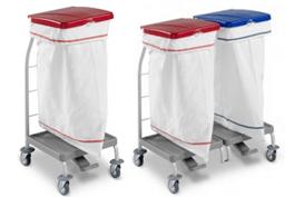 tts-dust-4161-dust-4163-wozek-higieniczny-zamykany-z-pedalem-skladany-na-odpady-medyczne-z-segregacja-na smieci-i-na-brudna-bielizne