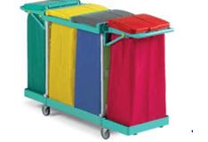 tts-magic-line-basic-190b-wozki-serwisowe-do-sprzatania-higieniczne-na-odpady-medyczne-z-segregacja-na-brudna-bielizne-na-odpady komunalne--i-smieci-elimuja-zakazenia-krzyzowe