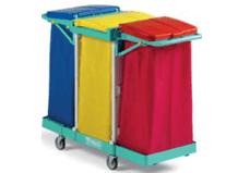 tts-magic-line-basic-50b-wozki-serwisowe-do-sprzatania-higieniczne-na-odpady-medyczne-z-segregacja-na-brudna-bielizne-na-odpady komunalne--i-smieci-elimuja-zakazenia-krzyzowe