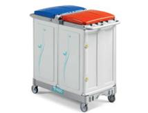 tts-magic-line-professional-100p-wozki-serwisowe-do-sprzatania-higieniczne-na-odpady-medyczne-z-segregacja-na-brudna-bielizne-na-odpady komunalne--i-smieci-elimuja-zakazenia-krzyzowe