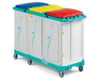 tts-magic-line-professional-150p-wozki-serwisowe-do-sprzatania-higieniczne-na-odpady-medyczne-z-segregacja-na-brudna-bielizne-na-odpady komunalne--i-smieci-elimuja-zakazenia-krzyzowe