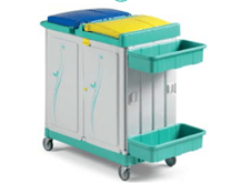 tts-magic-line-professional-170p-wozki-serwisowe-do-sprzatania-higieniczne-na-odpady-medyczne-z-segregacja-na-brudna-bielizne-na-odpady komunalne--i-smieci-elimuja-zakazenia-krzyzowe